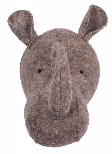 Kidsdepot ZOO Nashorn Tierkopf Trophäe grau