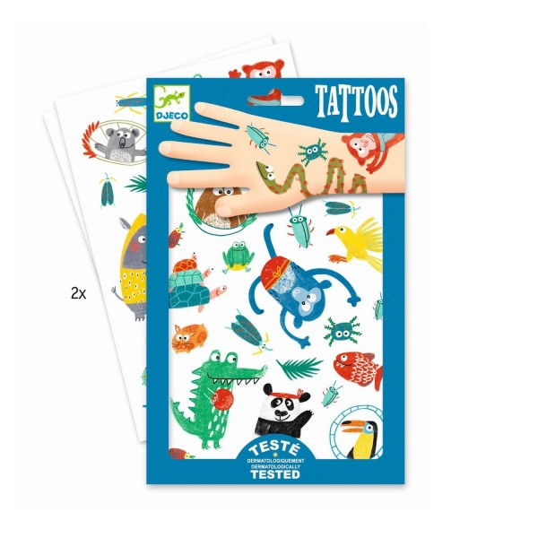 Djeco Tattoos Snouts Monster