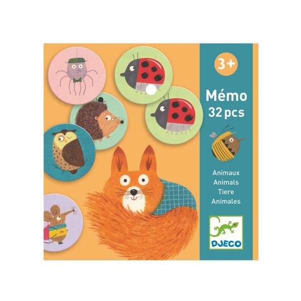 Djeco Memo Lernspiel Tiere runde Karten