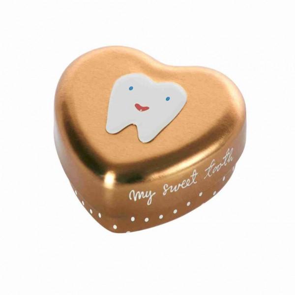 Maileg Zahndose Herz Erster Zahn gold