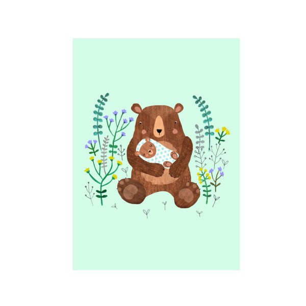 Petit Monkey Postkarte Baby Bär