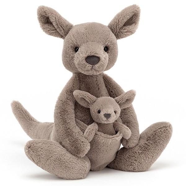 Jellycat Kara Kangaroo Kuscheltier mit Baby