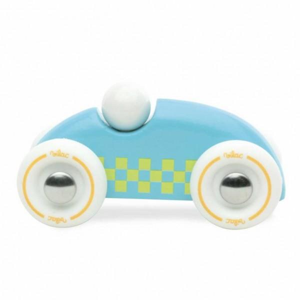 Vilac Mini Checkers Ralley Auto Holz hellblau