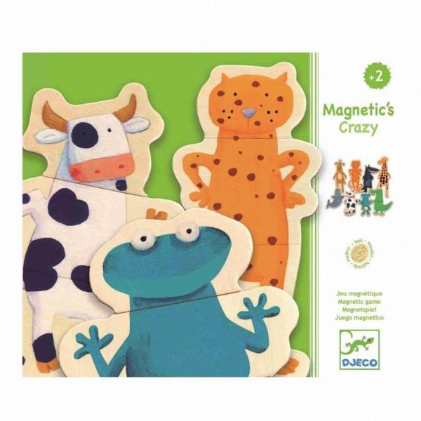 Djeco Holz Magnete verrückte Tierwelt 24 Teile