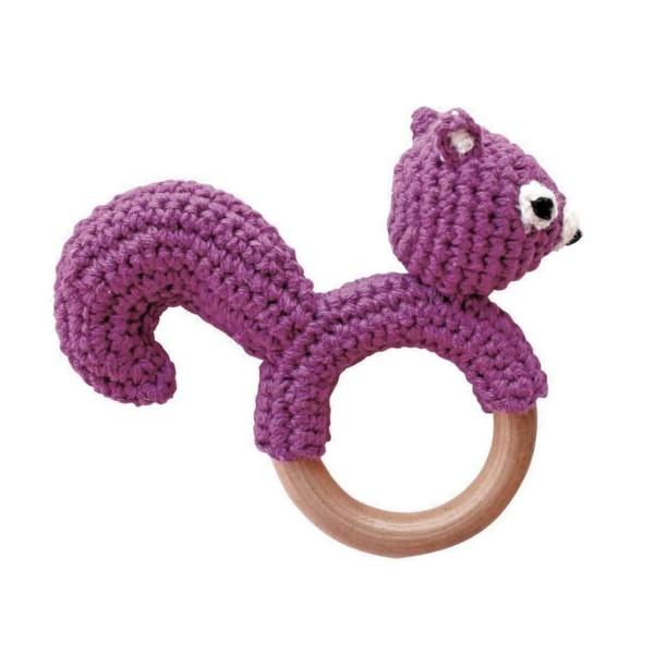 Sindibaba Rassel Greifling Eichhörnchen lila