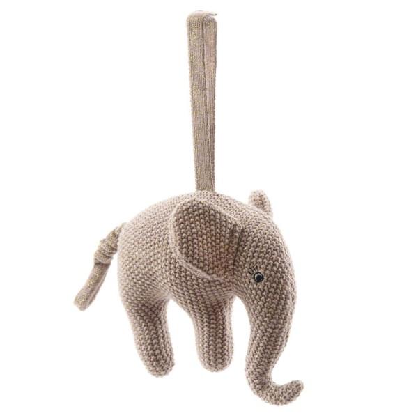 """Smallstuff Spieluhr Elefant rosa Gold """"Guten Abend..."""""""