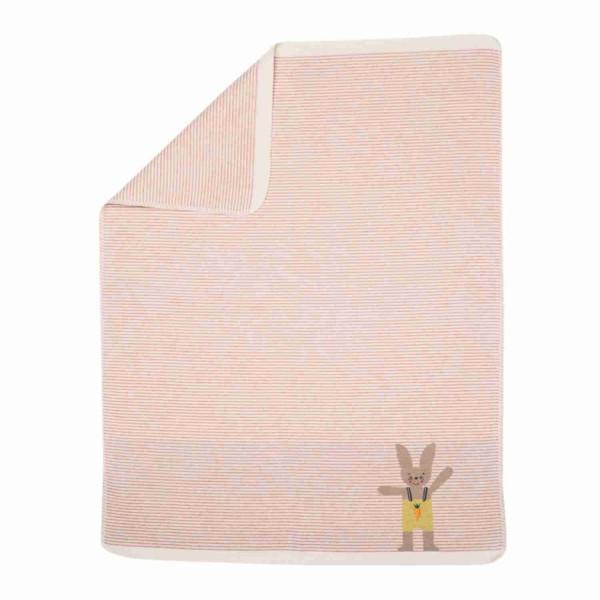 David Fussenegger Juwel Decke Hase rosa gestreift