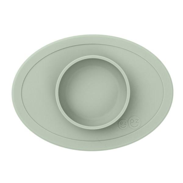ezpz Tiny Bowl Silikon Platzmatte Teller mandel grün