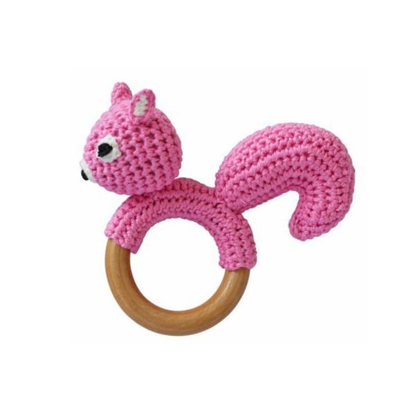 Sindibaba Rassel Greifling Eichhörnchen rosa